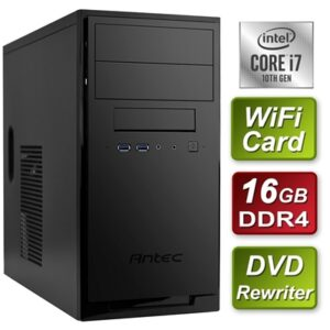Antec Intel i7-10700 Eight Core 2.9GHz 16GB DDR4 RAM 1TB SSD DVDRW Wi-Fi Card – Prebuilt System