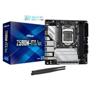 ASRock Z590M-ITX/AX Intel Socket 1200 mITX HDMI/Display Port WiFi 6ax Motherboard