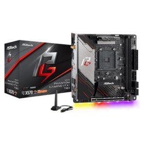 ASRock X570 Phantom Gaming-ITX/TB3 AMD Socket AM4 Mini ITX DDR4 M.2 USB C Thunderbolt RGB WiFi Motherboard